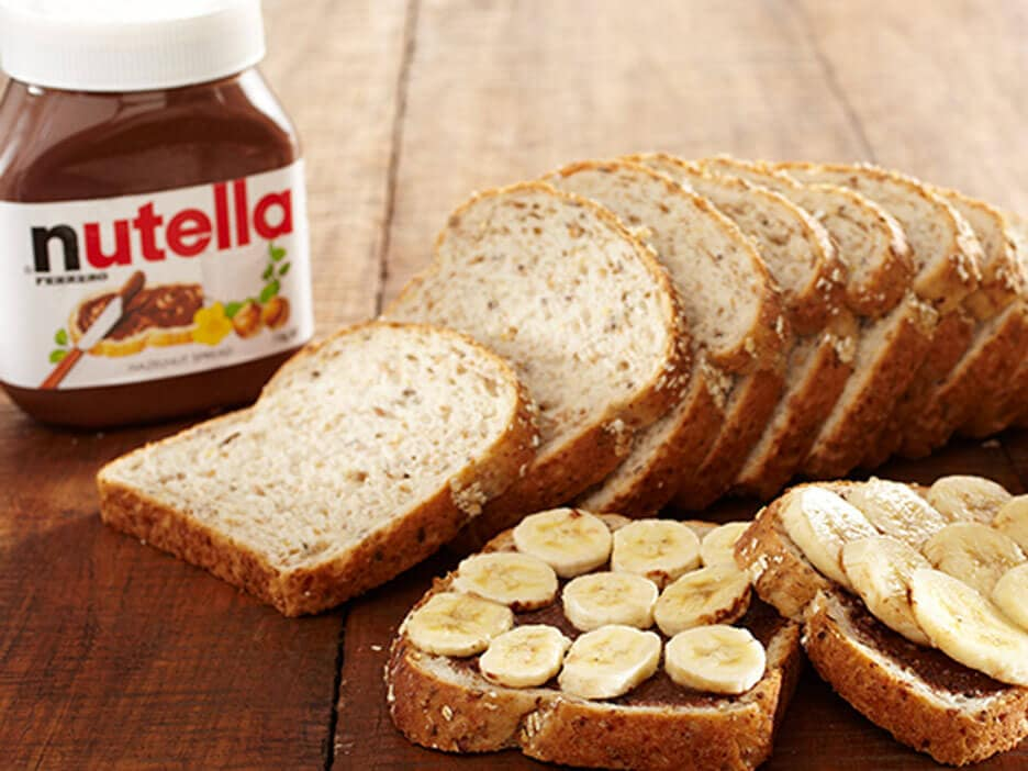 Nutella Banana Toast menu